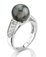 Tahitian South Sea Pearl & Diamond Alexa Ring