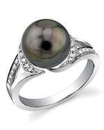Tahitian South Sea Pearl & Diamond Penelope Ring