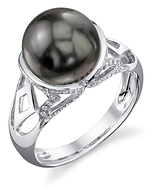 Tahitian South Sea Pearl & Diamond Abby Ring