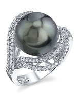 Tahitian South Sea Pearl & Diamond Clara Ring