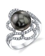 Tahitian South Sea Pearl & Diamond Annabelle Ring