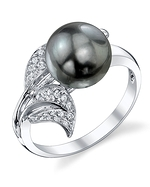 Tahitian South Sea Pearl & Diamond Eva Ring