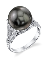Tahitian South Sea Pearl & Diamond Gabriella Ring