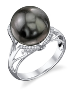Tahitian South Sea Pearl & Diamond Joana Ring