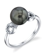 Tahitian South Sea Pearl & Diamond Joyce Ring