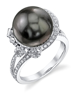 Tahitian South Sea Pearl & Diamond Kay Ring