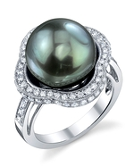 Tahitian South Sea Pearl & Diamond Patricia Ring