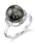 Tahitian South Sea Pearl & Diamond Ruby Ring