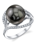 Tahitian South Sea Pearl & Diamond Sophia Ring