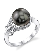 Tahitian South Sea Pearl & Diamond Willow Ring