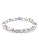 8.5-9.0mm Akoya White Pearl Bracelet- Choose Your Quality