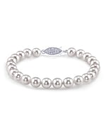 9.0-9.5mm Akoya White Pearl Bracelet- Choose Your Quality