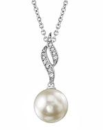 Freshwater Pearl & Diamond Suzanna Pendant