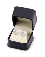 13mm White Freshwater Pearl Stud Earrings - Third Image