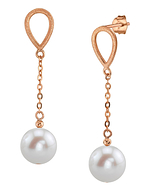 14K Gold Freshwater Pearl Vera Tincup Earrings - Third Image