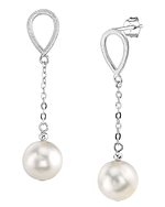 Freshwater Pearl Vera Tincup Earrings