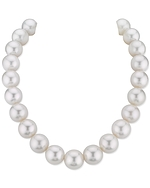 CERTIFIED 15-16mm White South Sea Pearl Necklace - AAA Quality