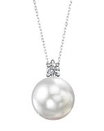 White South Sea Pearl & Diamond Ellie Pendant