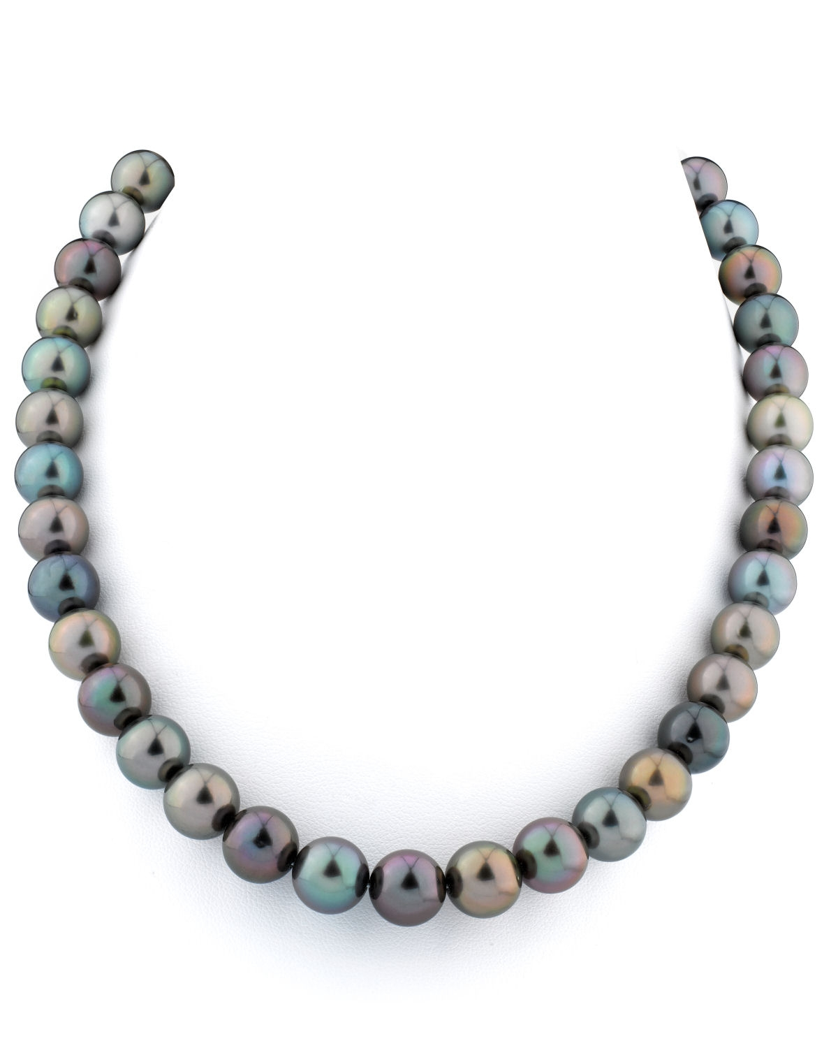 10 11mm tahitian south sea multicolor pearl necklace