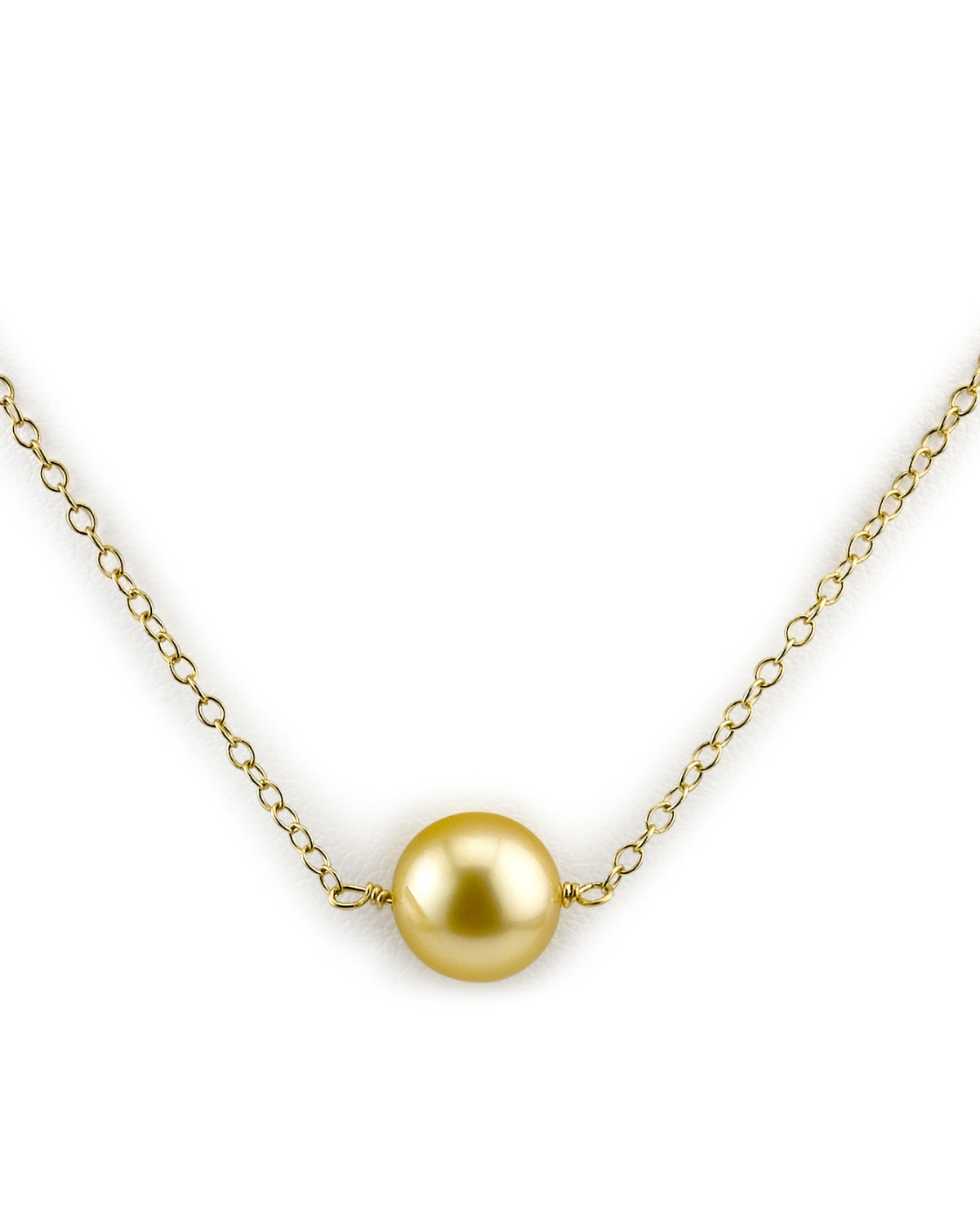 Golden Solitaire Pearl & Gold Pendant