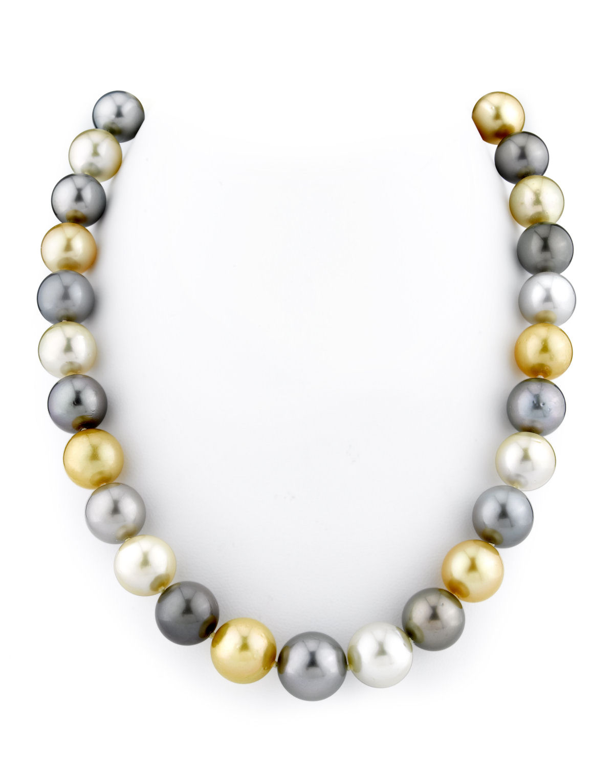11 14mm tahitian golden south sea pearl necklace