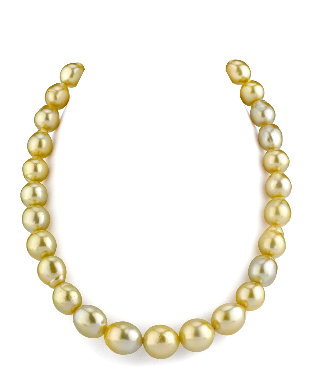11-13mm Drop-Shape Golden South Sea Pearl Necklace