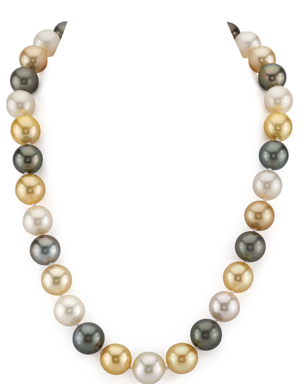 12-14mm South Sea Multicolor Pearl Necklace - AAAA Quality