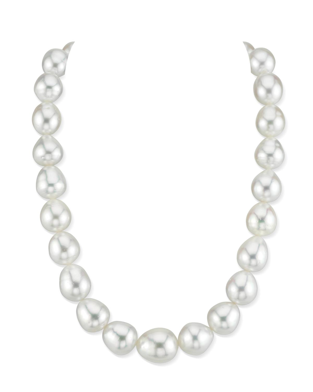 80ec897820840 12-15mm White South Sea Baroque Pearl Necklace