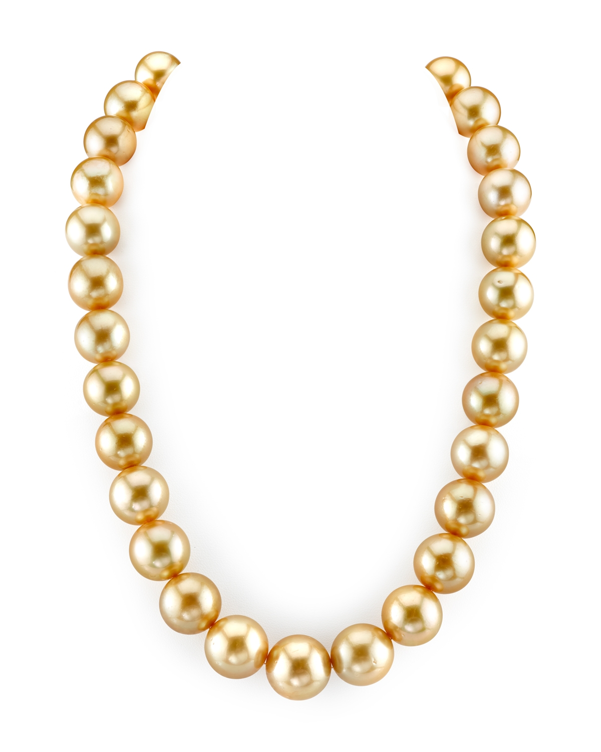 14-17mm Golden South Sea Pearl Necklace