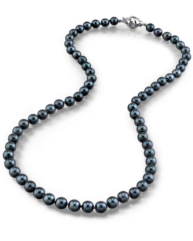 buy 5 0 japanese akoya black pearl necklace aa. Black Bedroom Furniture Sets. Home Design Ideas
