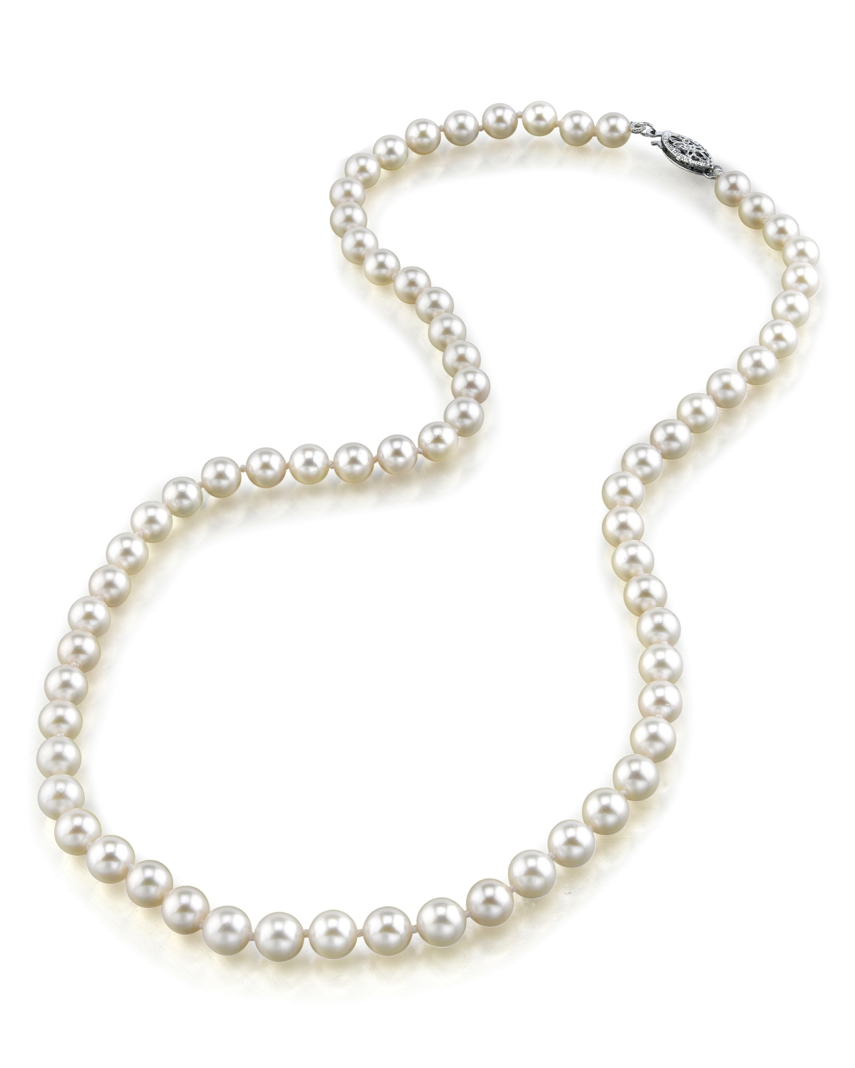 bf3b9dfeb 5.0-5.5mm Japanese Akoya White Pearl Necklace- AAA Quality