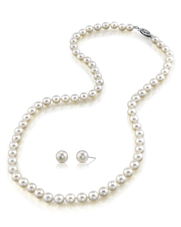 buy 6 5 7 0mm japanese akoya pearl necklace earrings
