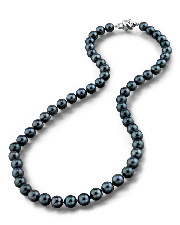 buy 7 0 japanese akoya black pearl necklace aaa. Black Bedroom Furniture Sets. Home Design Ideas