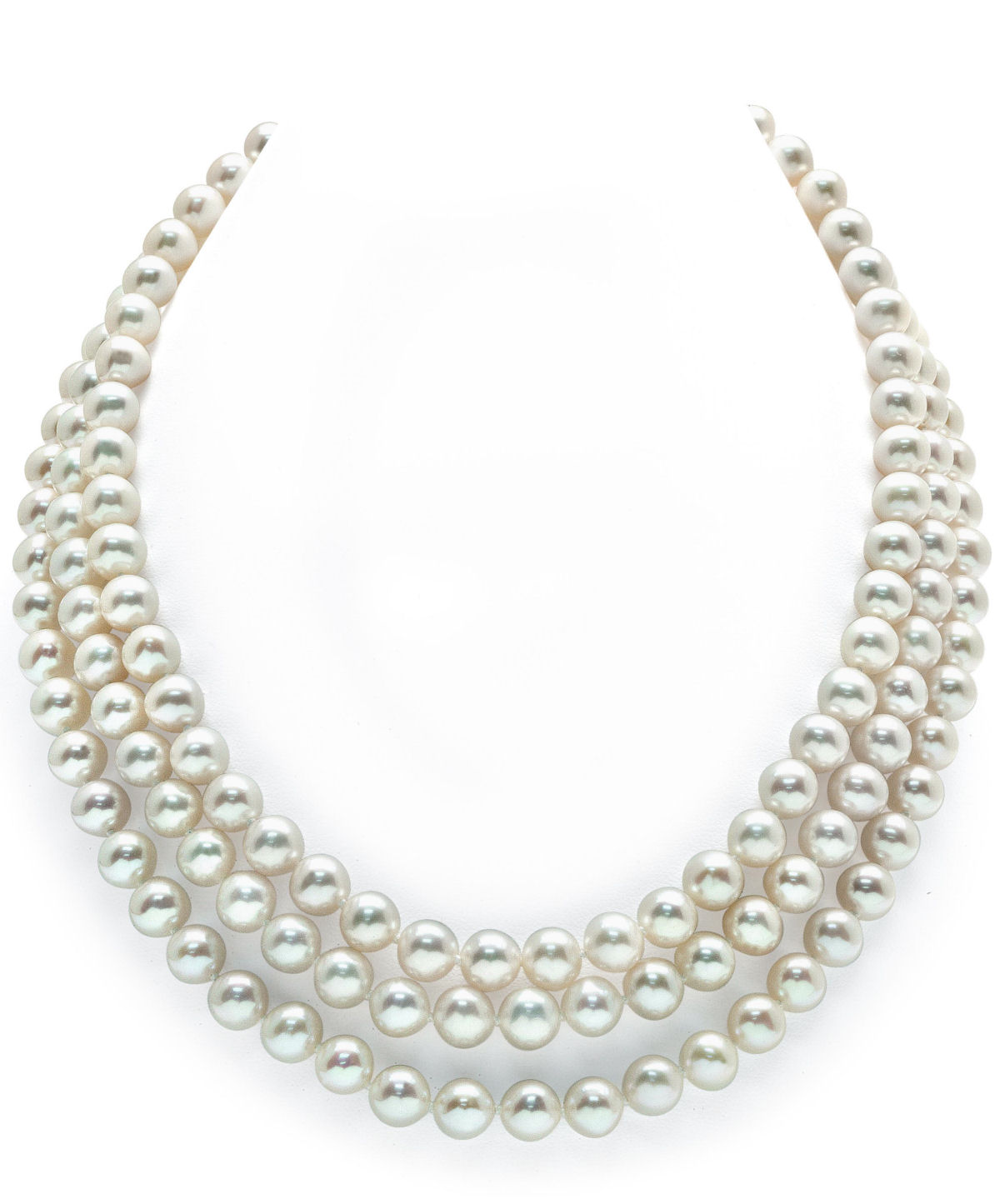 buy 7 8mm strand white freshwater pearl necklace