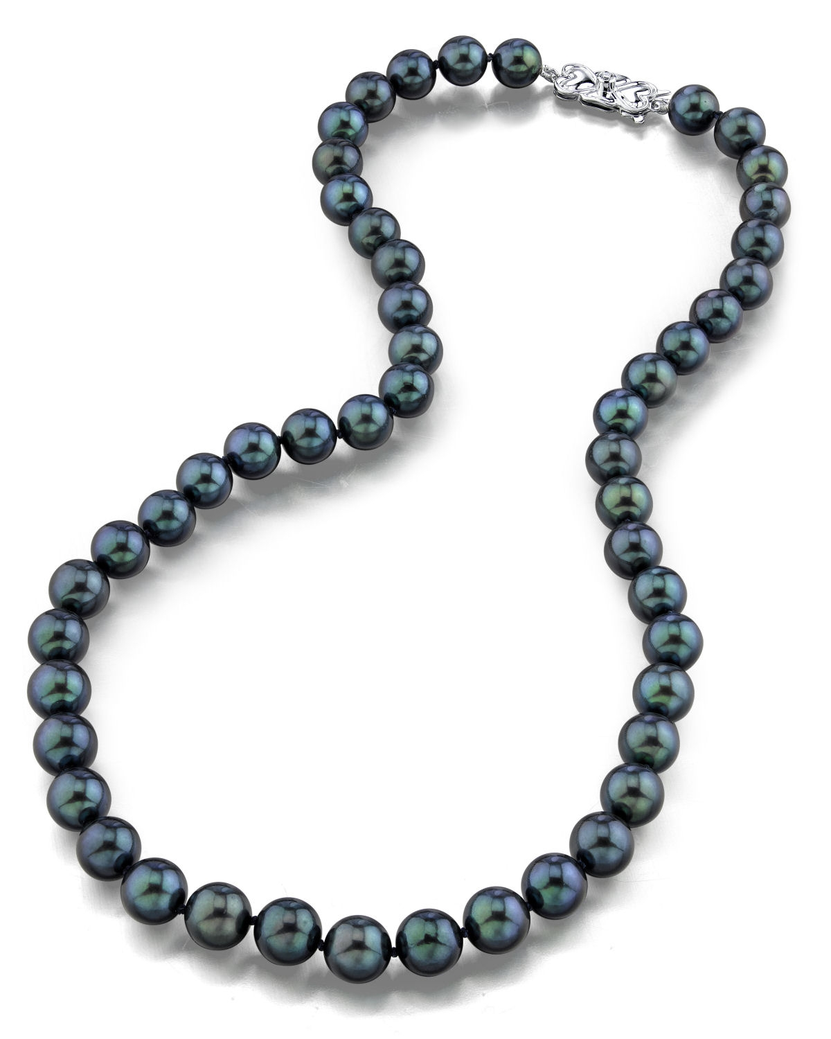 8 0 japanese akoya black pearl necklace aaa quality. Black Bedroom Furniture Sets. Home Design Ideas