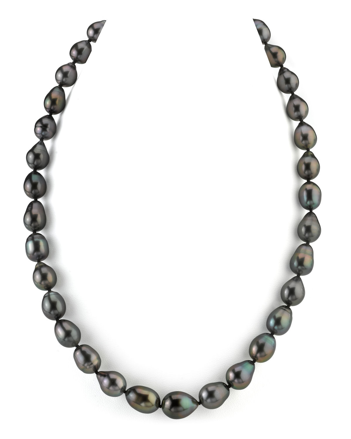 8-10mm Tahitian South Sea Drop Pearl Necklace - AAAA Quality