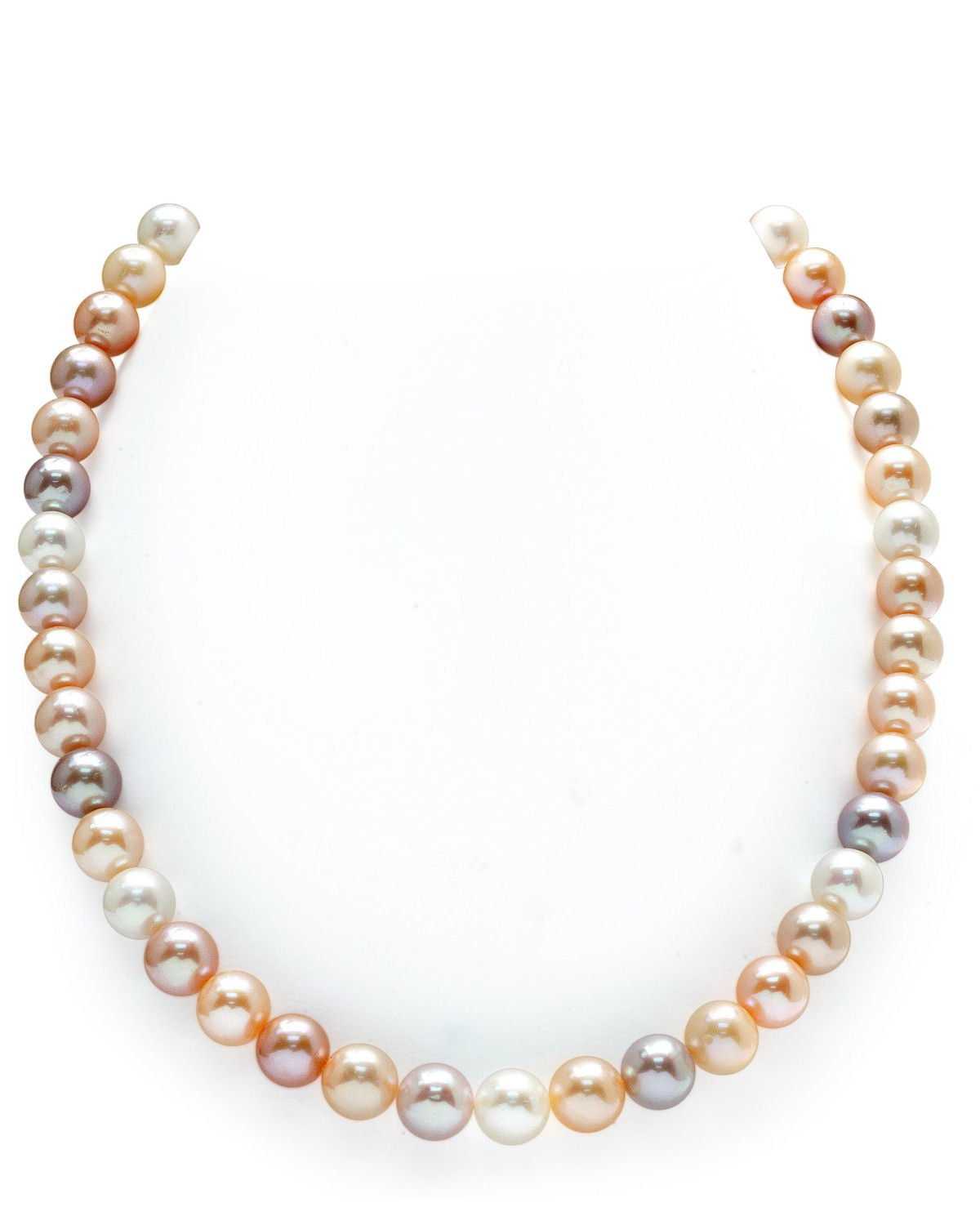 9-10mm Freshwater Multicolor Pearl Necklace - AAAA Quality