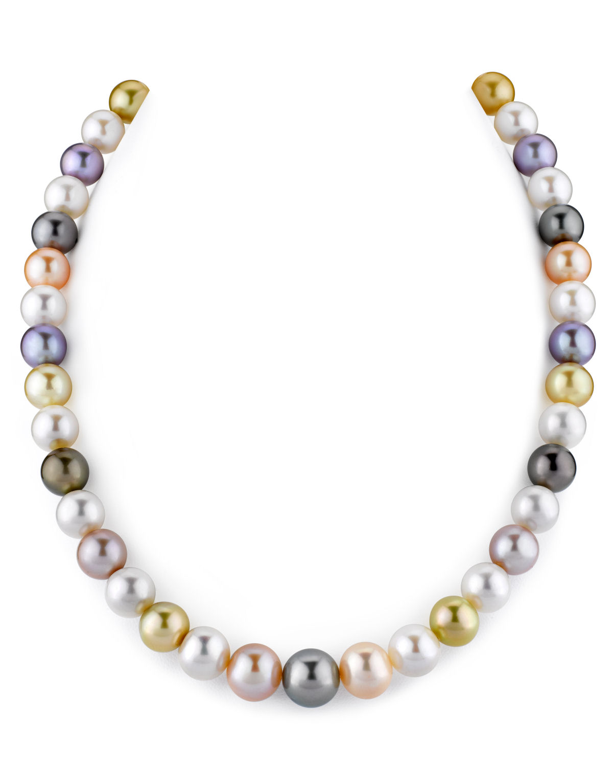 9-11mm Tahitian & Freshwater Multicolor Pearl Necklace