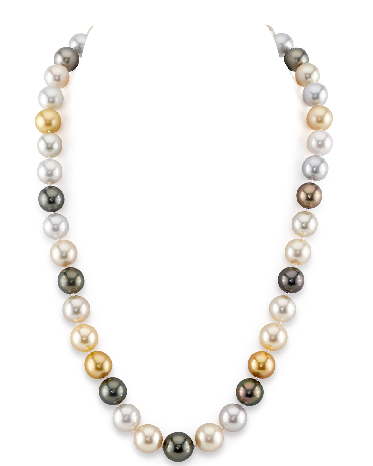 9-11mm South Sea Multicolor Pearl Necklace - AAAA Quality