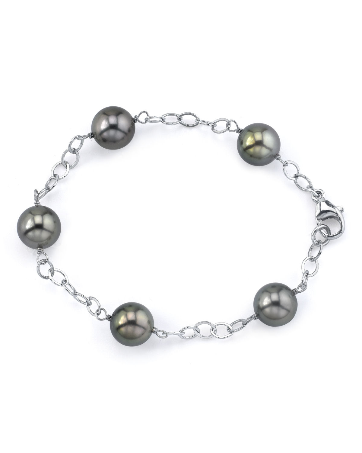 9-10mm Tahitian South Sea Pearl Tincup Bracelet