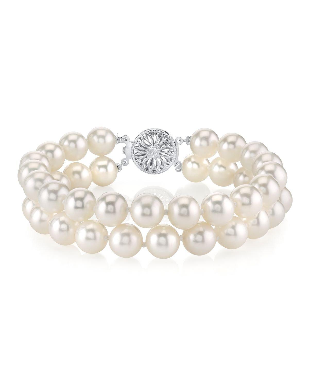 White Freshwater Double Pearl Bracelet