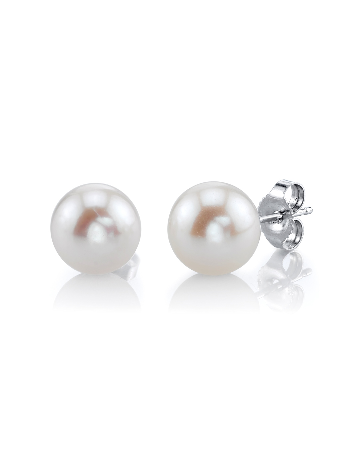 7mm White Freshwater Pearl Stud Earrings