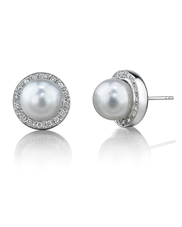 Pearl And Diamond Earrings Stud Topearrings