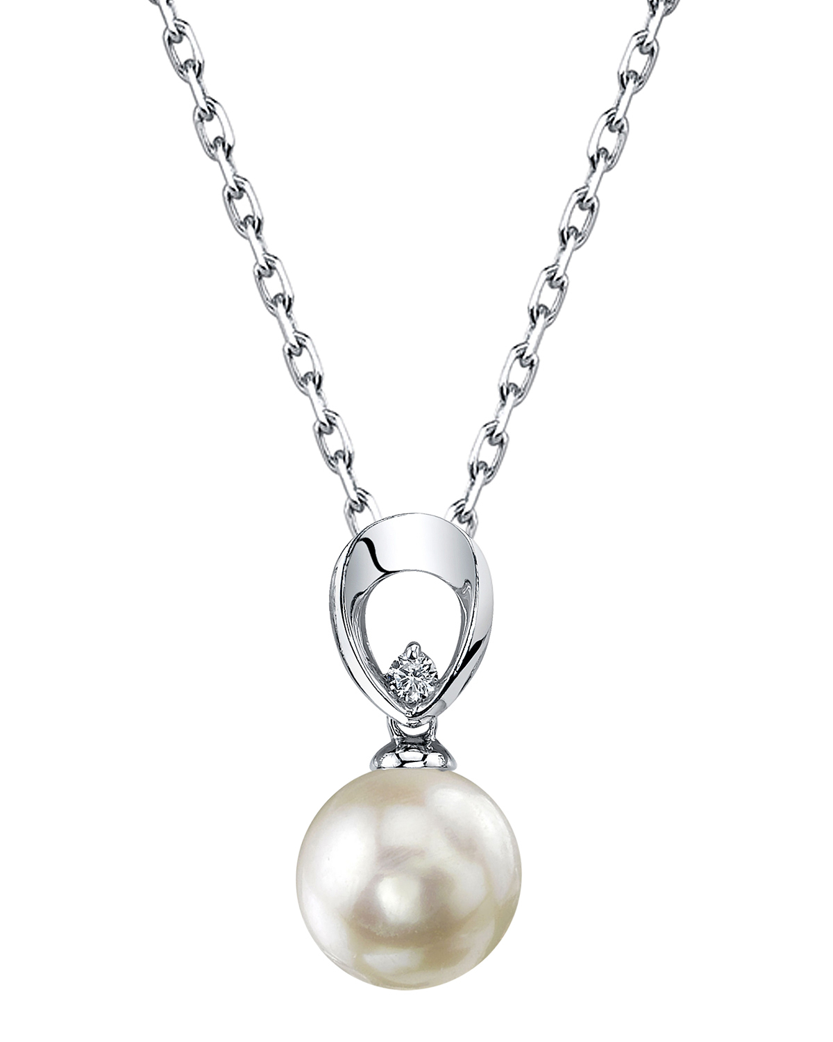 Akoya Pearl & Diamond Morgan Pendant