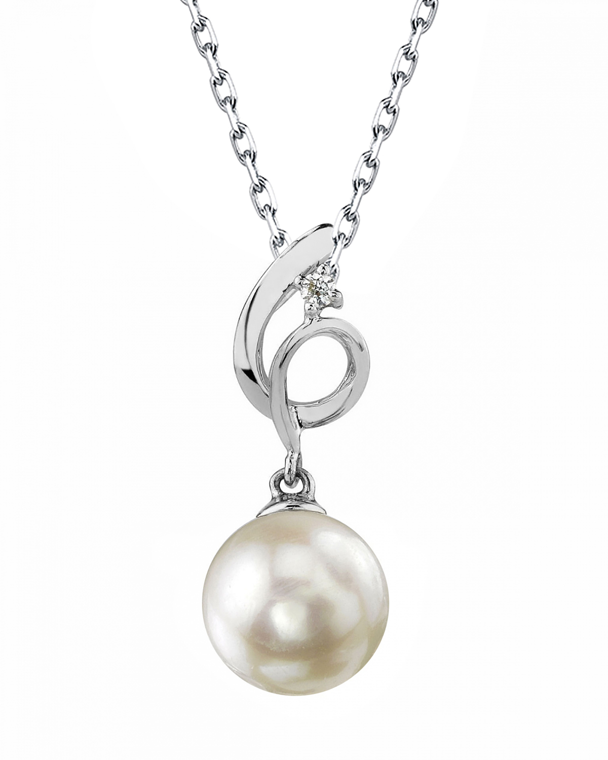 Akoya Pearl & Diamond Symphony Pendant- Choose Your Pearl Color