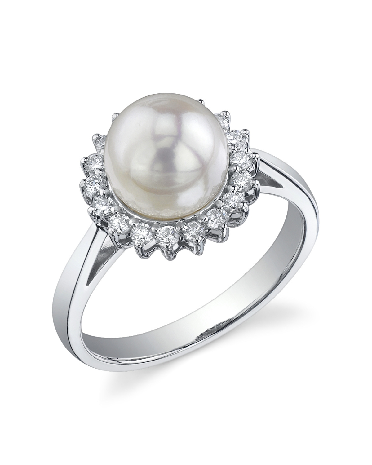 aaa quality akoya pearl solar ring choose your