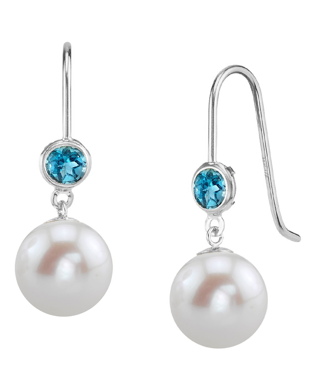 14K Gold Freshwater Pearl & Topaz Delilah Earrings