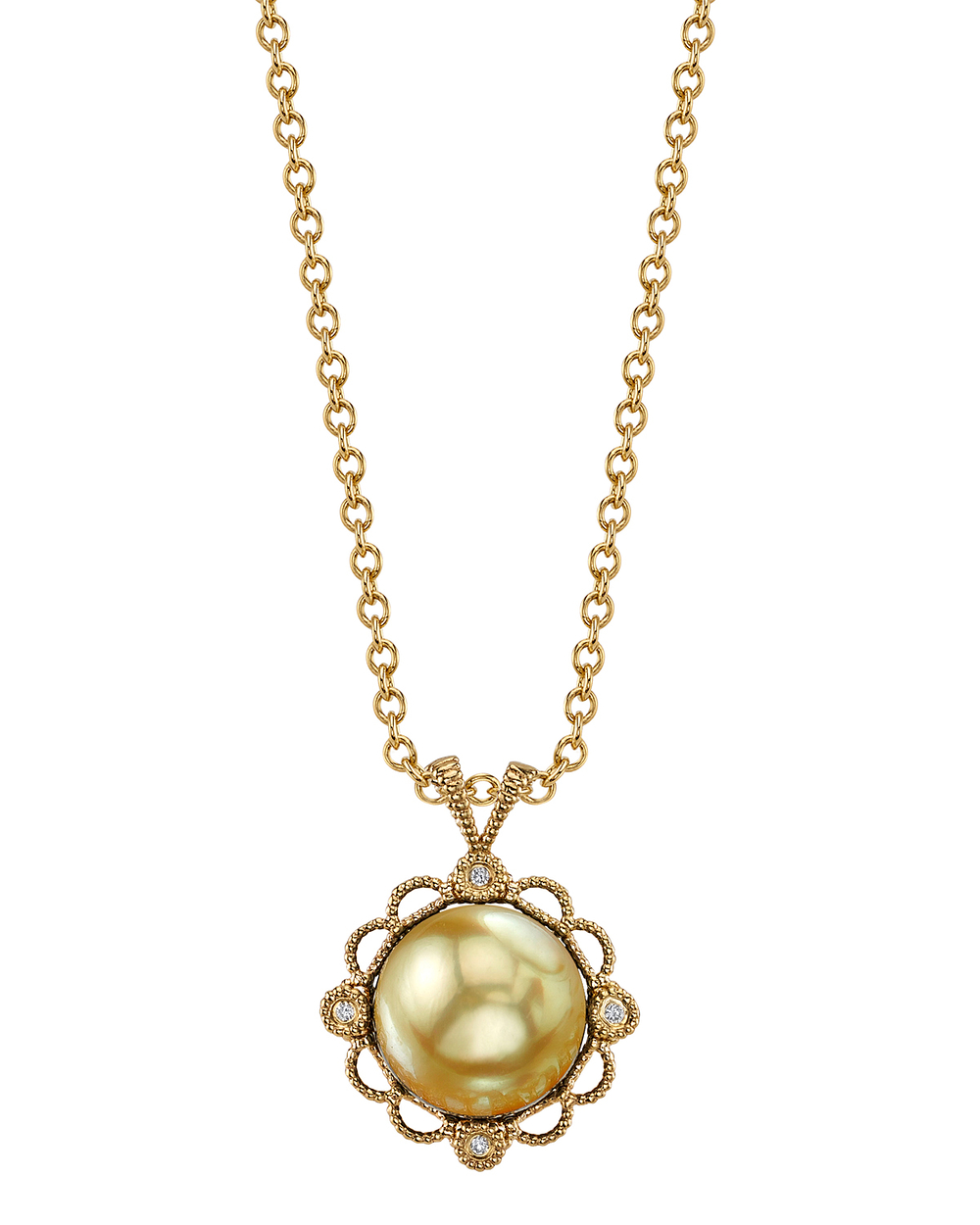 Golden South Sea Pearl Lea Pendant