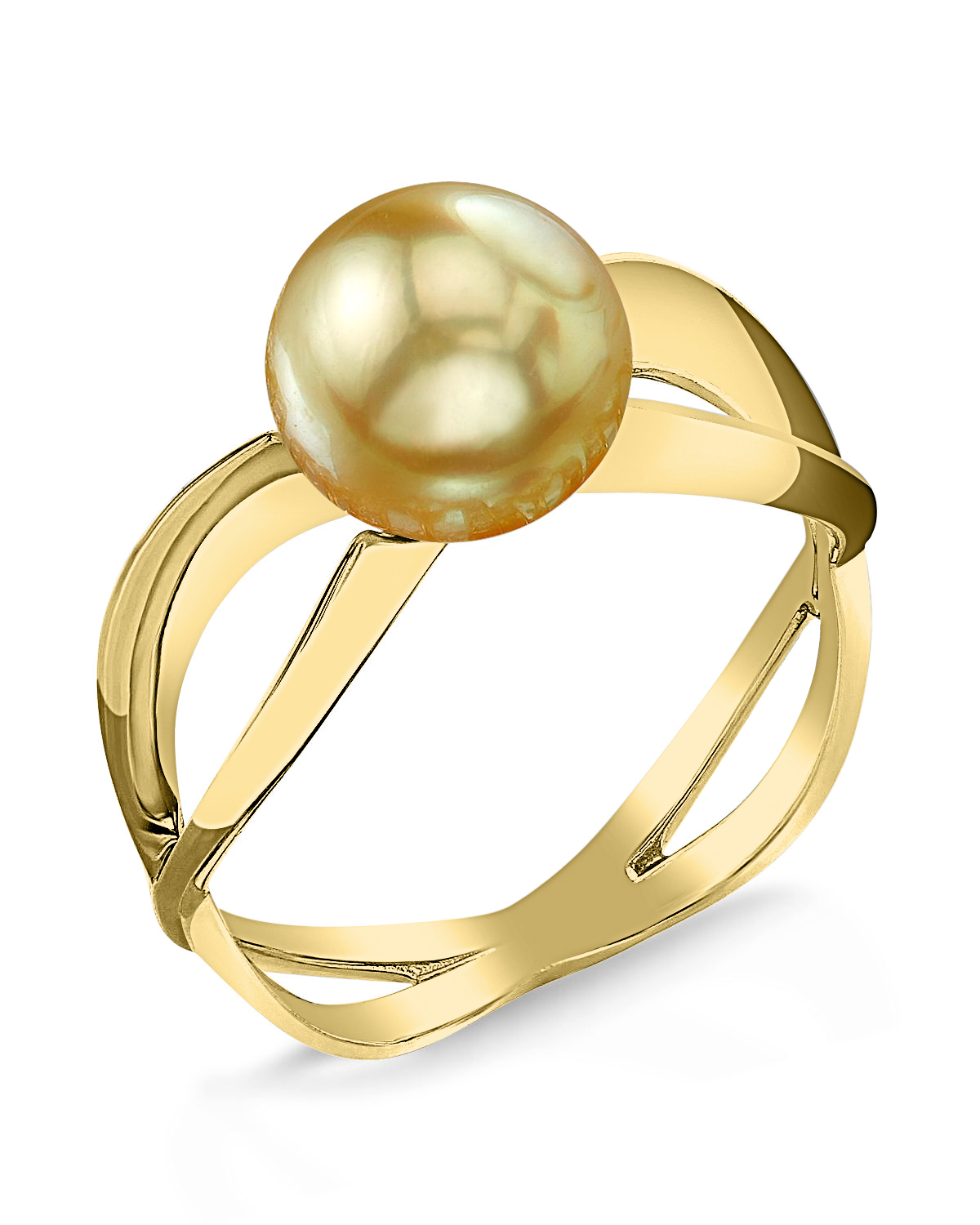 Golden South Sea Pearl Lana Ring