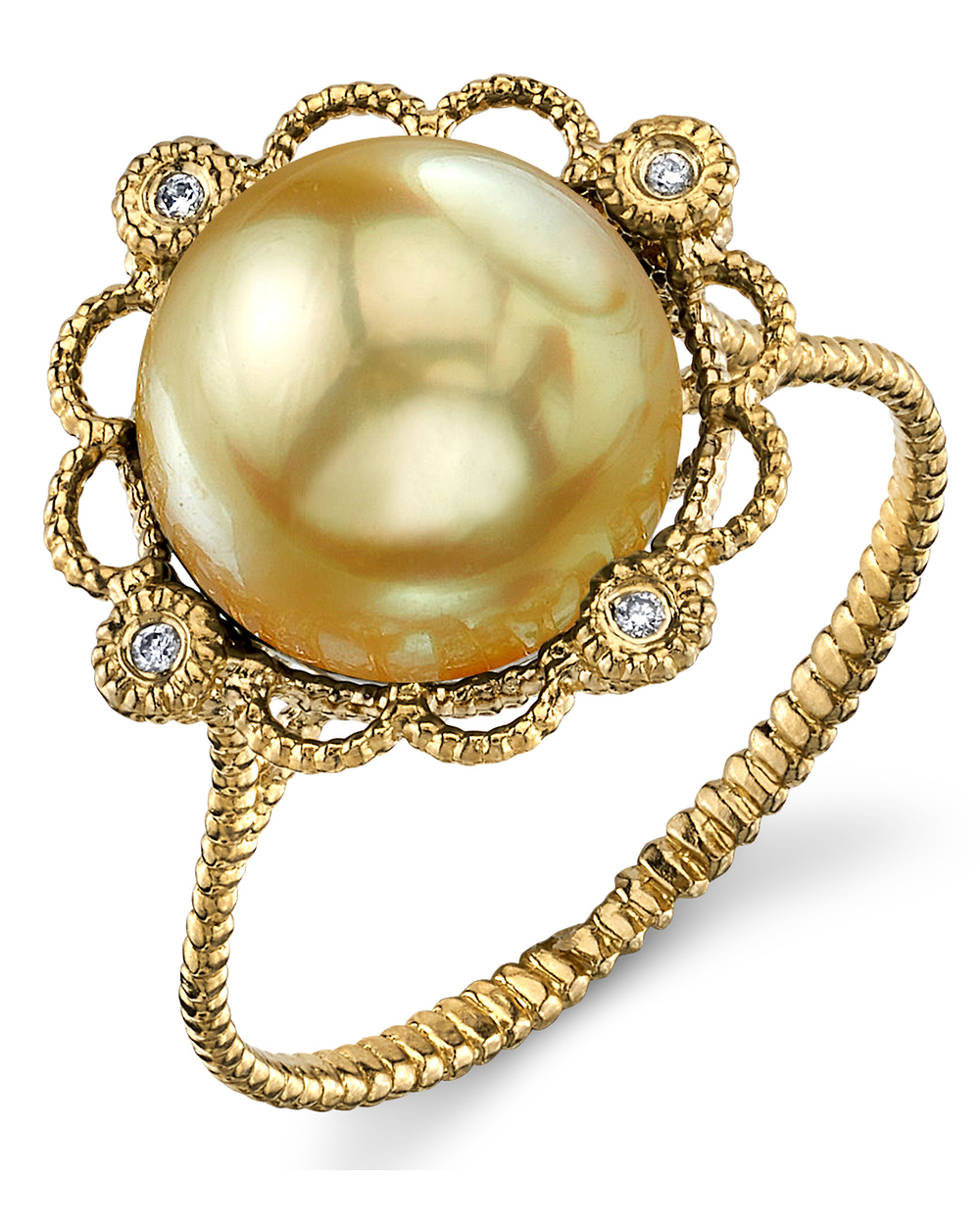 Golden South Sea Pearl Lea Ring